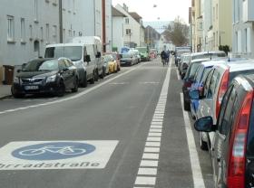 Fahrradstraße Wörthstraße